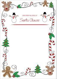 Official Santa Letter Santa Letter Template Word Doc Xors3d