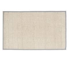 gray chenille jute solid border rug solid color rug pottery barn kids