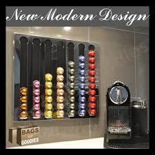 new nespresso® coffee capsules pod wall holderdispenser stainless