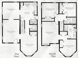 Two Story House Plans Two Story Floor Plans With Loft