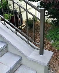 handrails for concrete steps stair handrail prefab steps concrete outdoor stair railings rustic outdoor stair railing ideas