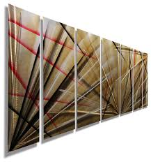 red and brown metal wall art