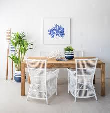 Block Leg Dining Table Recycled Teak 2m The Beach Furniture