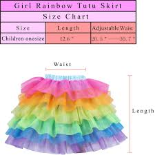 Skirt Size Chart For Toddlers Rainbow Tulle Skirts For Girls Women Unicorn Tutu Skirt For Party Sports Dancing Birthday Dress Up Costumes