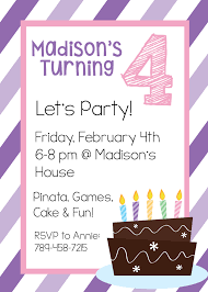 birthday invitations samples free printable birthday invitation templates