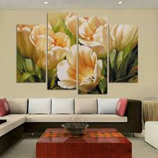 Wall Art Paintings For Living Room Popular Tulips Painting Buy Cheap Tulips Painting Lots From China