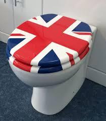 Grey Union Jack Toilet Seat