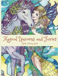 Amazoncom Magical Unicorns And Fairies Adult Coloring Book