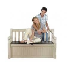 eden bench storage brown beige box 265l