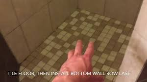 shower remodel 10 how to tile shower walls ceiling and floor