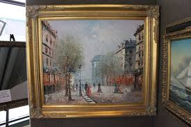 ine c burnett paris street scene original oil painting 26 x 30 1731461186