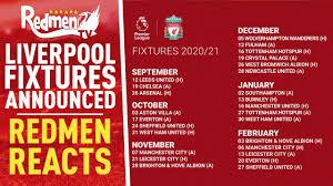 liverpool fixtures announced redmen