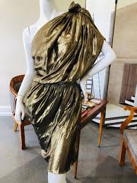 Lanvin by Alber Elbaz Metallic Gold Goddess Dress Fall 2010 at 1stDibs