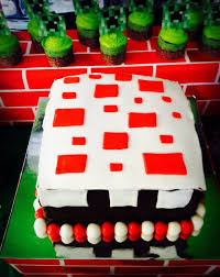 cake minecraft recipe. Real Minecraft Cake | CatchMyParty.com Recipe