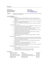 Sample Resume Objectives For The Medical Field Valid Medical