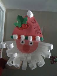 Paper Crafts For Christmas Construction Paper Santa Easy Preschool Christmas Craft Easy