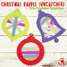 Printable Stencils For Kids Free Printable Christmas Bauble Suncatcher Templates Kids Craft Room