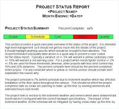 status update template word status update report template sample weekly project status report