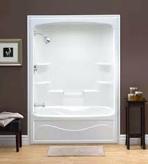 one piece tub shower combo one piece shower insert liberty inch 1 piece acrylic tub and one piece tub shower combo