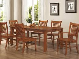 this coaster 100621 mabrissa oak mission dining table set has a traditional mission style a