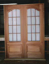 custom built wood exterior doors entryway arch top reion traditional historical