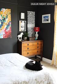it s the best thing i could have done for this room i love how absolutely everything pops against it and because it s not a true black it doesn t look