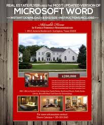 Microsoft Real Estate Flyer Templates Real Estate Flyer Template Microsoft Word Docx Version Home Listing Flyer Instant Download Using Update Version Of Word