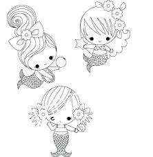 Realistic Mermaid Coloring Pages Cute Mermaid Coloring Pages