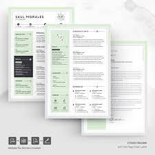 Dribbble 05 Page Free Resume Design Template Jpg By Resume Templates