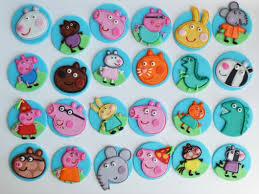Peppa Pig Fondant Cupcake Toppers Jam Cakes In 2019 Peppa Pig