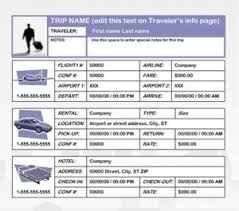 trip planner templates business travel plan template free printables word excel