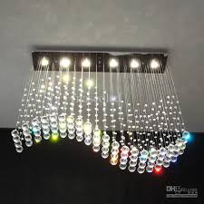stunning chandelier ceiling lamp modern wave crystal pendant light ceiling lamp rain drop