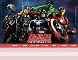 Avengers Potty Chart Marvel Avengers Charts Customizable Printable Free