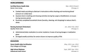 Sample Resume Of Health Care Aide Nurses Aide Resume Sample Krida