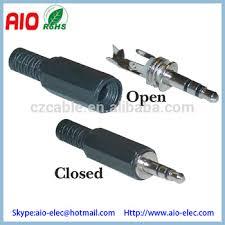 mm stereo male plug connector plastic hood er 3 5mm 1 8 stereo male plug connector plastic hood er