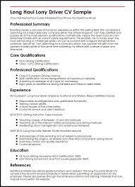 driver resume sample free