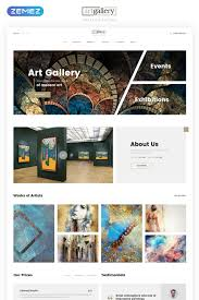 Website Gallery Design Ideas Art Gallery Multipage Html5 Website Template Gallery