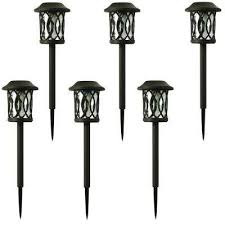 solar bronze outdoor integrated led 3000k 6lumens landscape pathway light 6pack outdoor led path lights o35