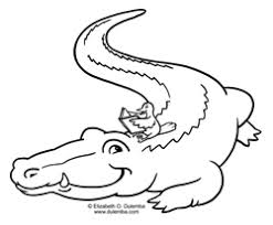 Small Picture dulemba Coloring Page Tuesday Crocodile and friend