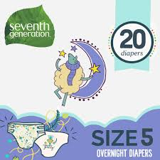 Seventh Generation <b>Free & Clear</b> Stage 5, 27-35 lbs Overnight Baby ...
