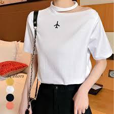 流行の肩出しデザイン大人可愛いtシャツ Base Mag