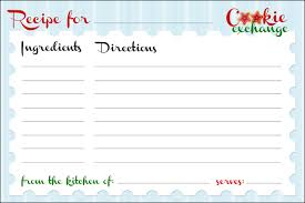 Christmas Recipe Cards Template Best Photos Of Cookie Exchange Spreadsheet Free Cookie