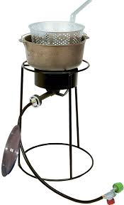 king kooker 54 000 btu portable propane gas outdoor cooker with cast iron and aluminum lid