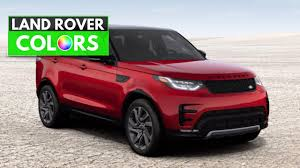 Land Rover Discovery 4 Colour Chart 2017 Range Rover Discovery Colors