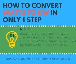Watts To Kw How To Converter Automatically Formula And