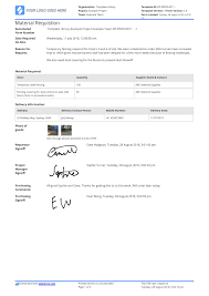 Free Material Requisition Form Template Better Than Excel