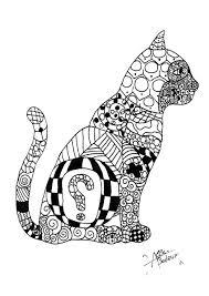 Gatti 57205 Gatti Disegni Da Colorare Per Adulti