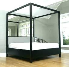Mirrored Canopy Bed Four Poster Medium Image For With Antiqued ...