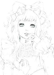 Cute Anime Coloring Pages To Print Coloring Pages Of Cute Anime