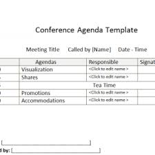 Formal Meeting Agenda Template Sample For Your Office : Helloalive